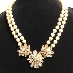 J.Crew Pearl and Crystal Necklace